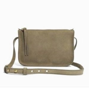 NWT Madewell Leather Olive Green Crossbody